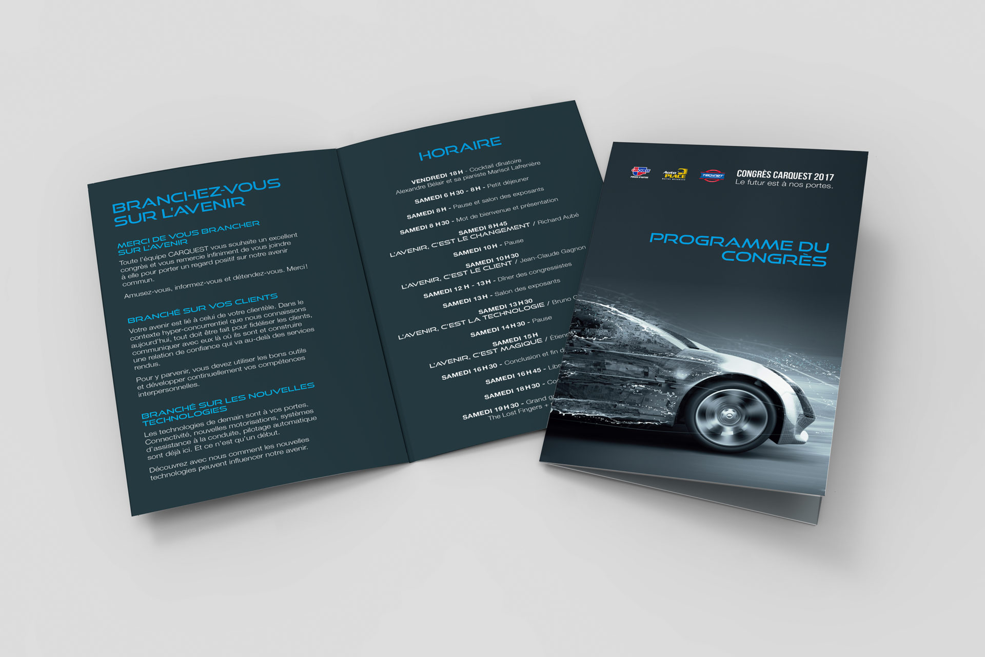 A3 half-fold brochure blank white template for mock up and prese