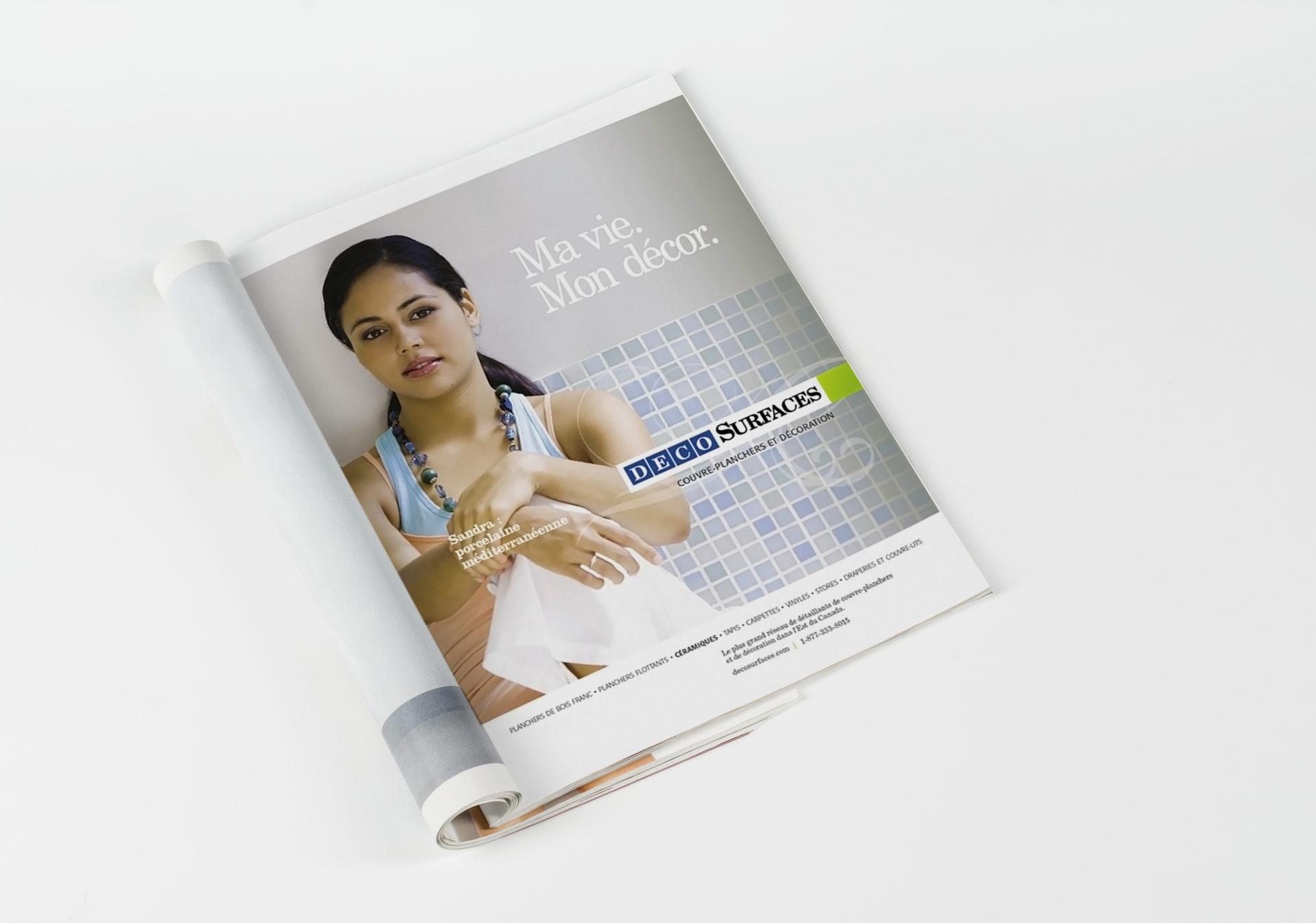 Mock-up magazines or catalog on white table background.